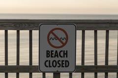 stängd strand Royaltyfri Bild
