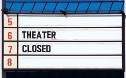 stängd teater 5 6 7 8 royaltyfri fotografi