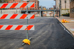 Stängd trottoar Arkivfoto