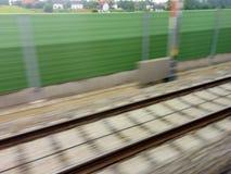 Stänger av järnvägen drev Arkivbild