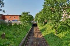 Stänger, järnvägar och drev i Tyskland arkivfoton