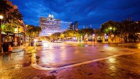 Stänger och uteliv på den Himmarshee gatan i Fort Lauderdale, Flor Royaltyfria Foton