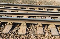 Stänger på järnvägen Royaltyfria Bilder