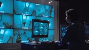 Stängt övervaka för person - strömkretsbevakning royaltyfri foto
