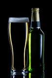 stängt exponeringsglas för ölflaska Royaltyfria Foton