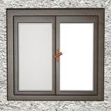 stängt fönster stock illustrationer