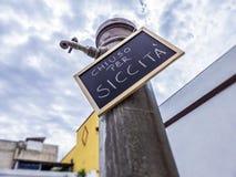 Stängt för torkan - chiuso per siccità Royaltyfri Bild