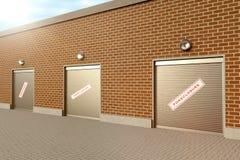 stängt lager Fotografering för Bildbyråer