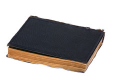 Stängt mörker - blå bok som isoleras på vit Royaltyfri Bild
