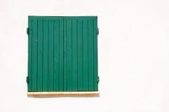 stängt med fönsterluckor fönster Fotografering för Bildbyråer