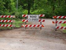 Stängt Ross för vägkvarter tecken Arkivfoto