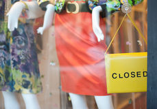 stängt shoppa Royaltyfria Foton