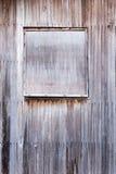 Stängt träfönster Arkivbild