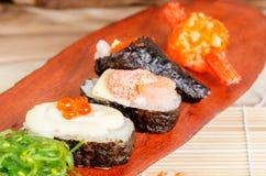 Stängt upp japansk mat Arkivfoton