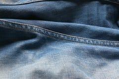 Stängt upp jeans, grov bomullstvilltextur, selektiv fokus Fotografering för Bildbyråer