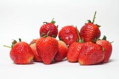 Stängt upp jordgubben på vit bakgrund royaltyfri bild
