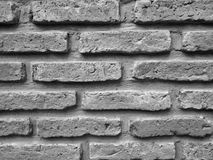Stängt upp svartvit textur för tegelstenvägg arkivbild