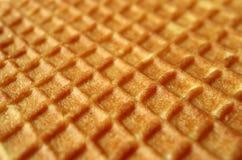 Stängt upp textur av holländska traditionella sötsaker, Stroopwafel med den selektiva fokusen för bakgrund Arkivbild