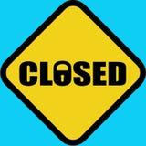 stängt vägmärke Royaltyfri Fotografi