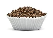 Stänk i en muffin bildar Arkivbild