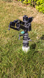 Stänk på gräs royaltyfria foton