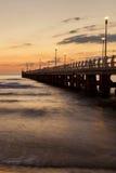 Stärke dei marmi Pieransicht über Sonnenuntergang lizenzfreie stockfotos