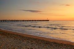 Stärke dei marmi Pieransicht über Sonnenuntergang stockfotografie