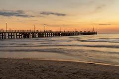 Stärke dei marmi Pieransicht über Sonnenuntergang lizenzfreie stockbilder
