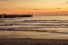 Stärke dei marmi Pieransicht über Sonnenuntergang stockbild