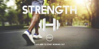 Stärke-Gesundheits-Leben-Geistesnahrungs-Vitalitäts-Konzept Lizenzfreies Stockfoto