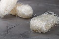 Stärkeglasnudel-Mungobohnen, Kartoffeln, Reis Stockfotografie