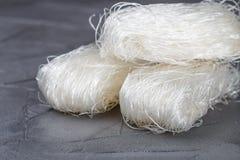 Stärkeglasnudel-Mungobohnen, Kartoffeln, Reis Stockbild