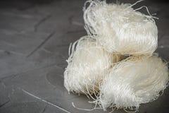 Stärkeglasnudel-Mungobohnen, Kartoffeln, Reis Stockfotos