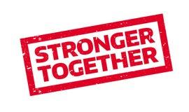 Stärkerer zusammen Stempel Lizenzfreies Stockfoto