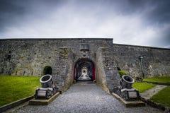 Stärkt citadell i Dinant, Belgien Fotografering för Bildbyråer