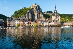 Stärkt citadell i Dinant, Belgien royaltyfri foto