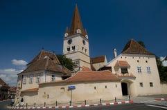 stärkt kyrka royaltyfria foton