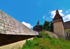 Stärkt kyrka av Biertan, Rumänien Arkivfoto