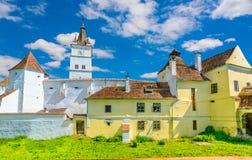 Stärkt kyrka av Harman, Brasov i Rumänien Royaltyfria Bilder