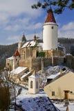 Stärkt slott av Krivoklat Royaltyfri Bild