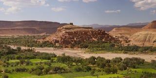 Stärkt stad av Ait ben Haddou Arkivbilder