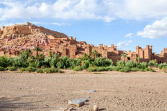 Stärkt stad av Ait Ben Haddou (Marocko) Arkivbilder