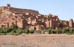Stärkt stad av Ait Benhaddou Arkivfoton