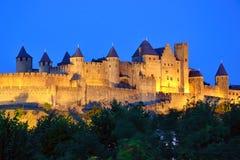 Stärkt stad av Carcassonne Arkivbilder
