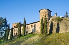 Stärkt väggRivalta slott - Piacenza - Emilia Romagna reg royaltyfri bild