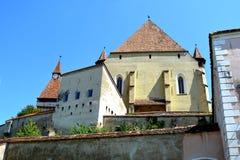 Stärkte medeltida kyrkliga Biertan, Transylvania Arkivfoto