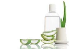 Stärkungsmittel von der organischen Aloe Vera Lizenzfreie Stockfotos