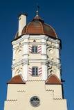Stå hög av en stad utfärda utegångsförbud för i en bayersk town Royaltyfri Foto