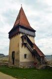 Stå hög av medeltida kyrka Arkivfoto