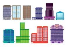 Stå hög Hem för andelsfastighet för byggnadsstadsarbetsplats Arkivbild